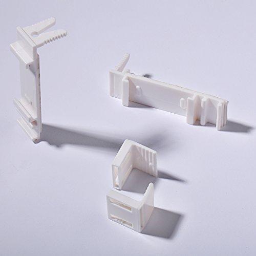 Klemmträger Verstellbar Klemmfix für Doppelrollo und Rollo Ohne bohren Zubehör 2 Stück