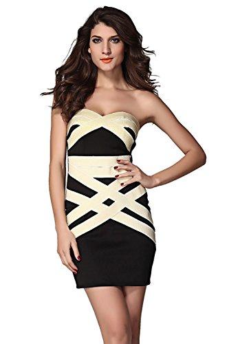 Dissa® femme Noir SY2955-2L mini robe Noir