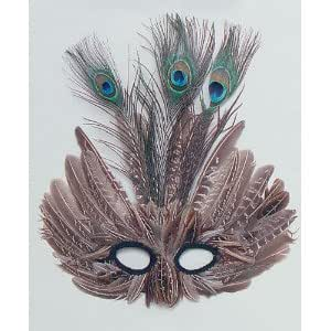 Peacock Feather Masquerade Eye Mask Masked Ball Fancy Dress
