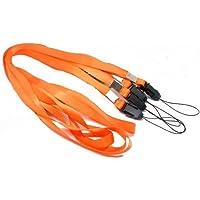 CKB Ltd 50 x Orange Naranja Laccetto Portabadge Laccio da collo Laccetti Multiuso per PortaBadge Cellulare Lanyard Neck Strap For ID Card / Mobile Phone /Gym Key / Access Pass Holder Loop Clip