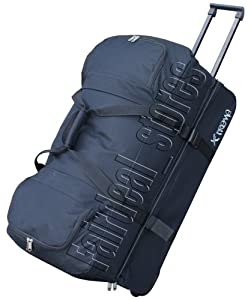"""28"""" (110l) Trolley Bag Duffle Holdall Rolling Wheeley Luggage Black by Extreme"""
