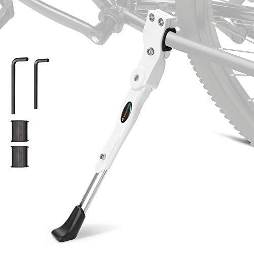 TOPCABIN Seitenständer Fahrrad Ständer Hinterbauständer Universal Fahrradständer Aluminiun Gummi Weiß