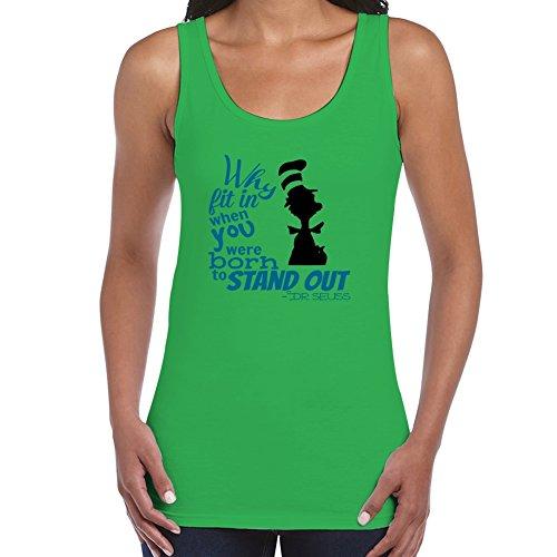 stylingclothing Frauen Dr. Seuss Zitat T-Shirt (Größe, Farbe), damen, grün