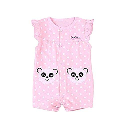 Babykleidung,Yanhoo Neugeborene Kinder Baby Jungen Mädchen Cute Panda Affe Kühe Druck Kleidung Kurzarm Tier Printed Strampler Outfitsoverall Baby Kinderbekleidung Sets (59, Panda)