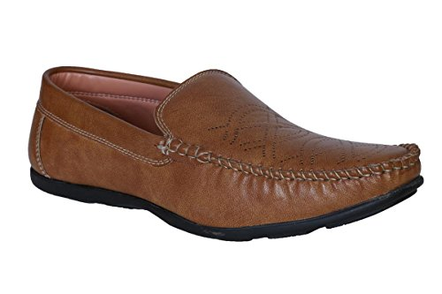 antire Stylish Tan Casual Formal Corporate Moccasins Slip-On Loafers Shoes for Men& Boys