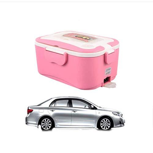 Chauffage électrique portatif Boîte à lunch Machine de cuisson Boîte de chauffage Réchauffeur de nourriture Cuiseurs de riz Voiture 1.5L 220V / 24V / 12V (Couleur : Pink, taille : 12V)