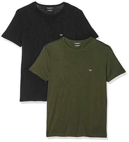 Emporio Armani Underwear Herren 1112677A722 Schlafanzugoberteil, Blau (Nero/Militare 50720), Small