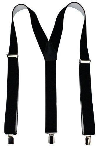 Alex Flittner Designs Bretelles de haute qualité avec Clips fort de 35mm | noir bleu royal rouge blanc gris