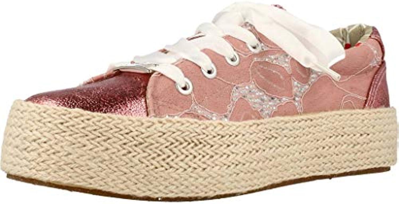 Cafènero KDH905333360 E18.333 Cipria 36 scarpe da ginnastica Allacciata in Pizzo su Fondo Corda | Prestazioni Affidabili  | Uomini/Donne Scarpa