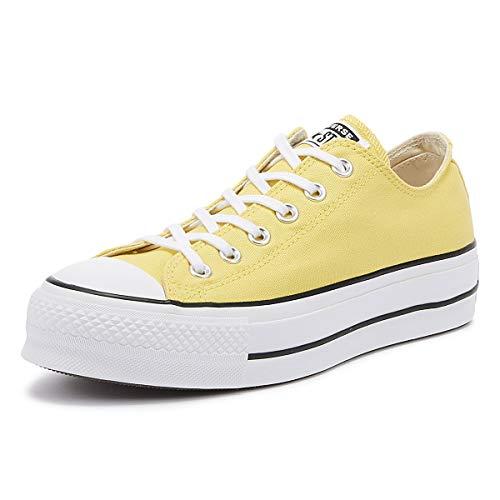 Converse Chuck Taylor All Star Lift Seasonal Color OX Sneaker Damen Gelb - 35 - Sneaker Low Chuck Taylor All Star Double Upper