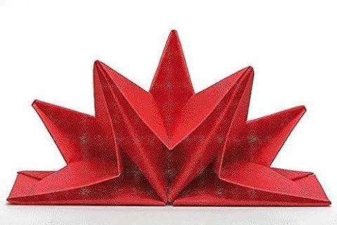 Serviettes en papier pliées Venezia, Couleur: Rouge, Pre, contient Pro d