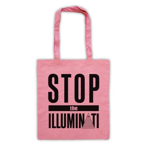 Stop The Illuminati-Tavola da Slogan Tote Bag Rosa