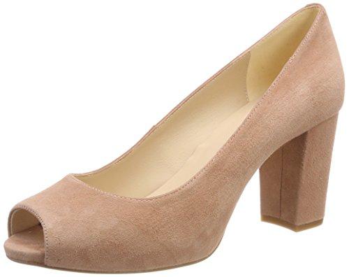Unisa Nazo_18_KS, Zapatos de tacón con Punta Abierta para Mujer, Rosa Printemps, 37 EU