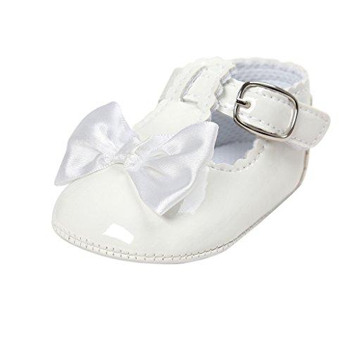 Chaussures de bébé Auxma Chaussures à talons compensés Bowknot pour bébé Pour 0-18 mois (11cm(0-6M), Rose) blanc
