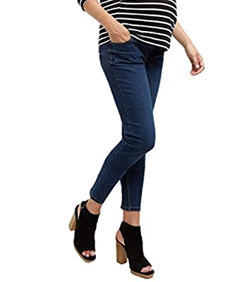 Ladies Ex New Look Maternity Navy Under Bump Skinny Jeans