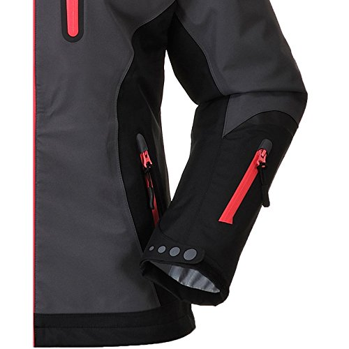 Cox Swain Damen 3 Lagen Titanium Funktions/Hardshelljacke Kabru 8.000 Wassersäule 5.000 Atmungsakt, Colour: Grey/Black - Pink Zipper, Size: XS - 4