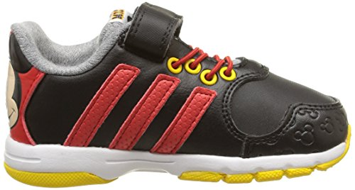 adidas - Disney Mickey, Scarpine primi passi Unisex – Bimbi 0-24 Nero (Noir (Core Black/Vivid Red/Super Yellow))