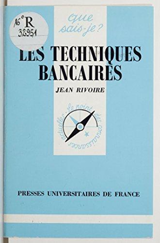 Livres Les Techniques bancaires pdf epub