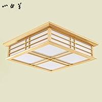 GQLB Semplice di legno lampada da soffitto 3 luci di colore (450*450*120mm), tatami