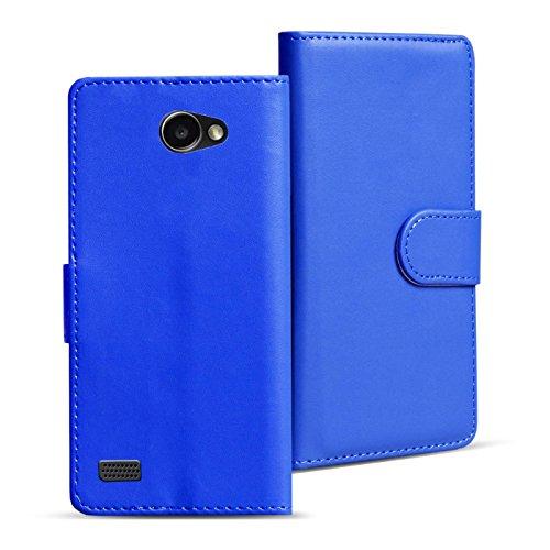 Verco Bello 2 Hülle, Handyhülle für LG Bello 2 Tasche PU Leder Flip Case Brieftasche - Blau
