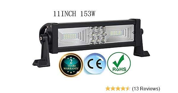 LED Light bar 11 inch 153w LED Work Light Combo led Driving Lights Fog Lights Jeep Offroad Lights SUV ATV 4wd Truck Heavy Duty Vehicle Boat Lighting 2 Year Warranty