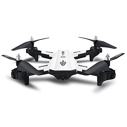 ASD Drone con Cámara HD 1080P Plegable Mini Lente Gran Angular FPV Quadcopter De Flujo Óptico Mantenimiento De Altitud Modo Sin Cabeza para Principiantes Niños Adultos con Una Clave De Retorno,White