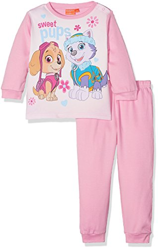 Nickelodeon Baby-Mädchen Zweiteiliger Schlafanzug Paw Patrol Colorful Sweet Pups, (Pink 14-2311TC), 80
