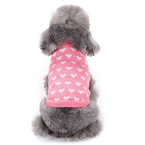 Ninasill Pet Apparel, ღ ღ Herz, Rund Hals Kleine Haustiere Hund Cute Kleidung Casual Large Rose -