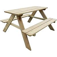 Amazonfr Table Et Banc En Bois Tables De Jardin Tables Jardin