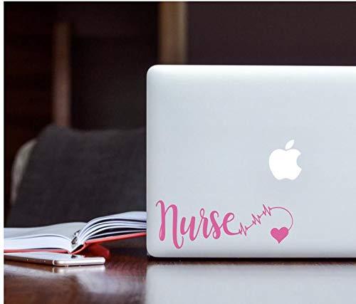 Cellayay Krankenschwester-Aufkleber, Autoaufkleber, Still-Aufkleber, Krankenschwester, Laptop, Tumbler-Aufkleber, Krankenschwester, Krankenschwester, Notfall-Aufkleber, EKG, Herz -