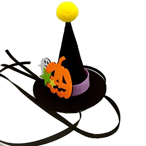 CXZC Haustier Katze Hund Hut Kostüm Hexe Hut für Katze Haustiere Halloween Dress Up