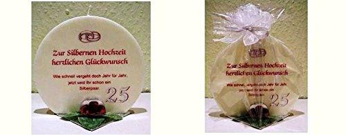 Geschenk Kerze zur Silberhochzeit Artikel: SD167126