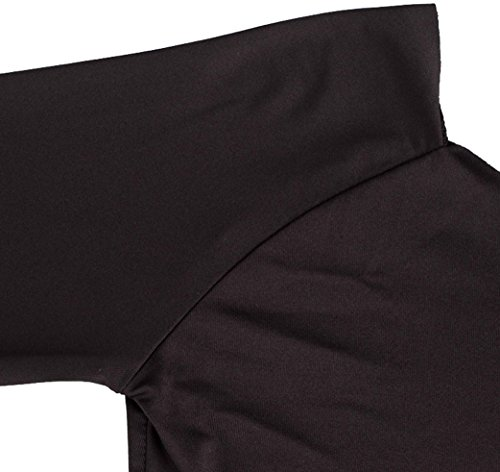 U-shot Femme Sans bretelle Manches longues Slim Stretch Cocktail Party Club Bodycon Robe Noir