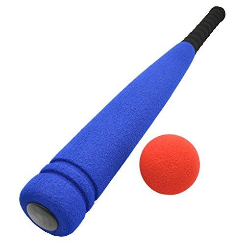 LEORX Batte de baseball et balle de en mousse pour enfants de 3à 5ans (Bleu)