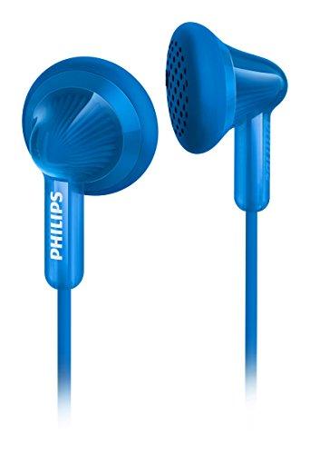 Philips SHE3010BL Auricolari con Bassi Potenti, Suono Chiaro, Cavo Anti-Twist, Blu