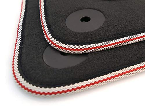 kh Teile Fußmatten TT 8N Velours Premium Tuning Automatten 2-teilig Roter S-Line Streifen