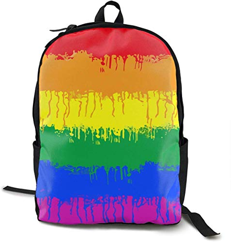 lgbt gay lesbian flag daypack with smooth zippers, travel and sport zaino per bambini rucksack big capacity casual college school daypack anti-theft multipurpose for teen girl boy