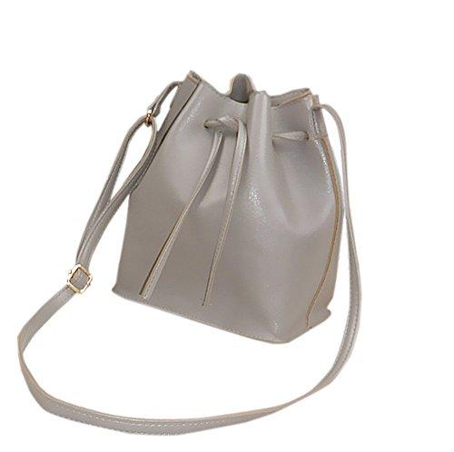Remeehi giovani donne una spalla mano borsa a tracolla piccola borsa secchiello, Yellow (Grigio) - JXQ0696-4 Grey