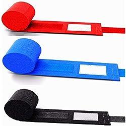 Xing Dong Sports 4 Metri Fasce per Pugilato 100% Cotone Boxe Bende per Mani Polsi Muay Thai Taekwondo Arti Marziali MMA Bendaggi - 2 pz/Rotolo (Blu)
