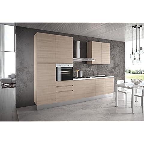 Enrica cocina modular, completa con electrodomésticos.