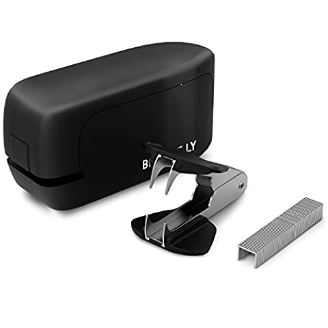 20 Sheet No-Jam Automatic Stapler by Bizarre.ly - Professional Heavy Duty Office Stapler with Precise Stapling Technology - Quiet, Compact & Cordless - Includes Free Staples, Staple Remover & Warranty