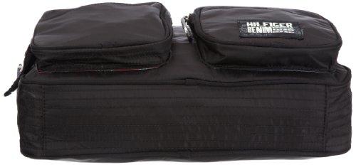 Hilfiger Denim STONE MESSENGER EK56917304, Herren Messengerbags 38x29x8 cm (B x H x T) Schwarz (BLACK / BLACK 990)