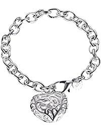 Bling étoiles bracelet coeur en filigrane fleur coeur Charms Bracelet