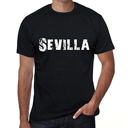 Sevilla Hombre Camiseta Negro Regalo De Cumpleaños 00550