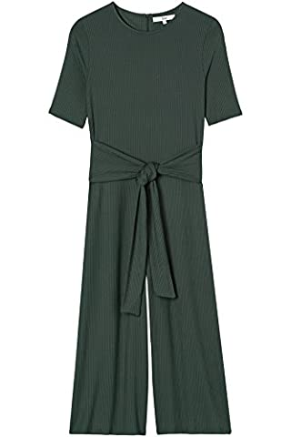 FIND Women's Rib Cropped Jumpsuit, Green, 14 (Manufacturer