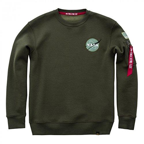 Alpha Industries Herren Sweatshirt Dark Green