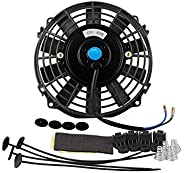 Car Accessories Universal 7 Inches Water Tank Cooling Fan Car Radiator Replacement for Water Tank Heat Dissipa