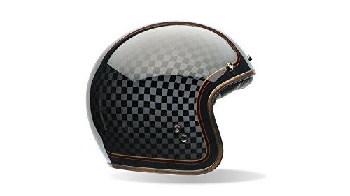 Bell Powersports Custom 500 Motorradhelm, Schwarz (RSD Check It), XL (Bell Carbon Helm)