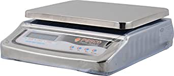 Pesco Stainless Steel Table Top Commercial Weighing Scale for Shops - 30KG, Accuracy - 5gm, Two Sided Display (Government Approved), Large