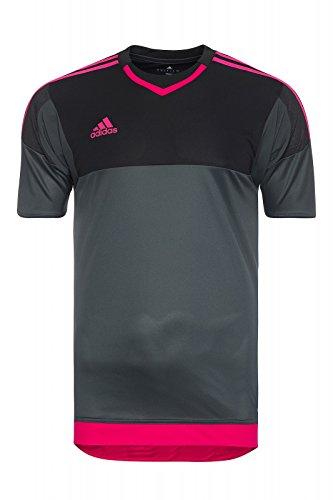 Adidas Gk jsy p dkgrey/black/bopink, Größe Adidas:9 - Trikot Torwart Kurzarm